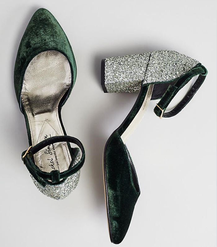 Anthropologie footwear: Reno velvet heels