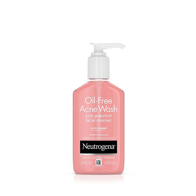 Oil-Free Acne Wash Pink Grapefruit Facial Cleanser, 6 Fl. Oz (Pack of 3)