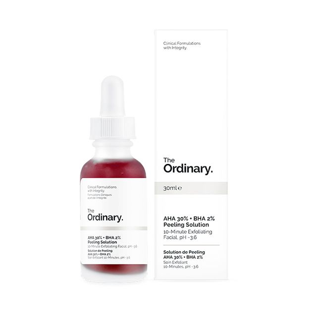 Chemical face peels: The Ordinary AHA 30% + BHA 2% Peeling Solution