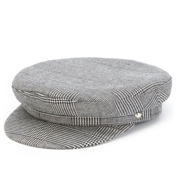 Yes, You Can Look Cool Wearing a Baker Boy Hat—Here's How, Manokhi Houndstooth Baker Boy.