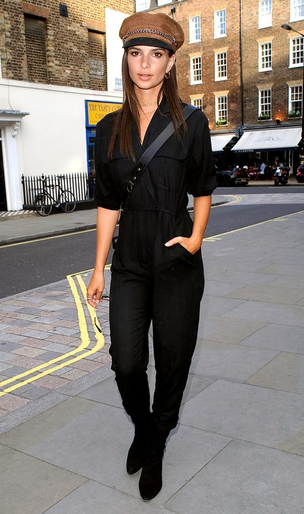 On Emily Ratajkowski:Brixton hat.