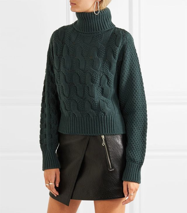 MM6 Maison Margiela Cable-Knit Wool-Blend Sweater