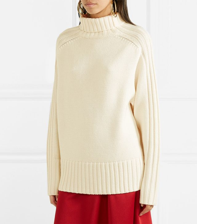 Joseph Ribbed Merino Wool Turtleneck Sweater