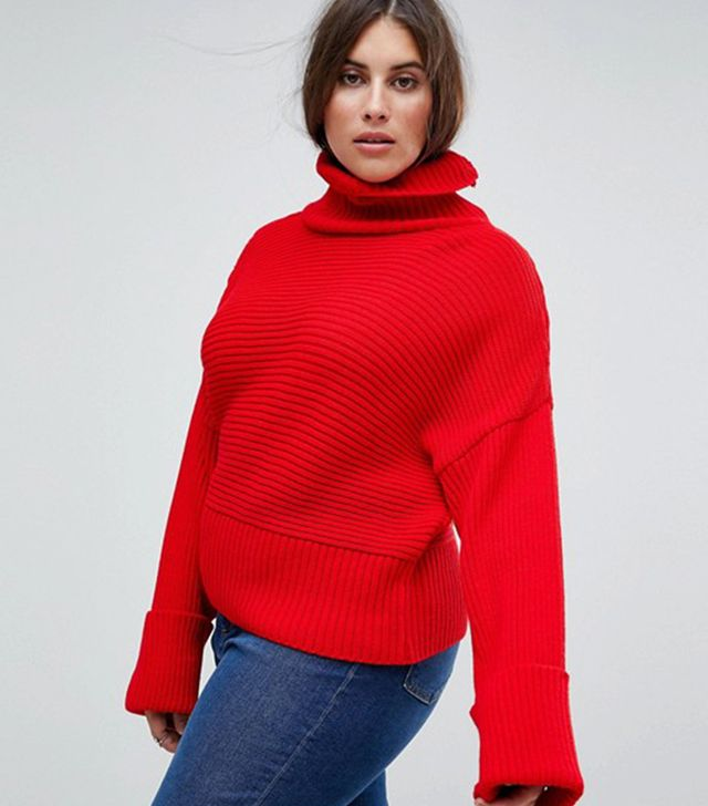 Boohoo Roll Neck Wide Sleeve Sweater