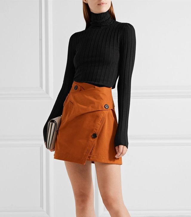 Acne Studios Corina Ribbed Merino Wool-Blend Turtleneck Sweater