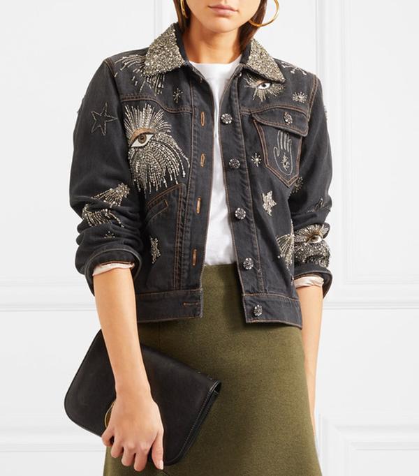 Eloise Embellished Denim Jacket