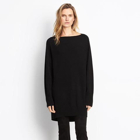 Cashmere Oversized Boatneck Sweater