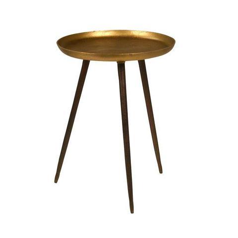 Brass Three-Leg Side Table