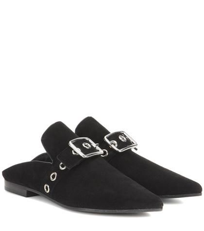 x Robert Clergerie Lopal suede backless loafers