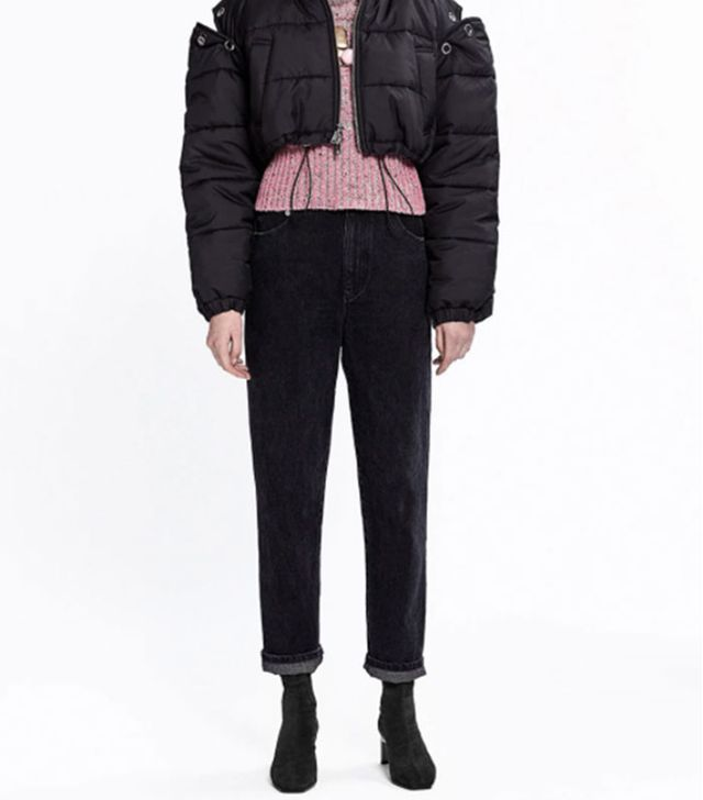 High-Waist Jean-BLACK