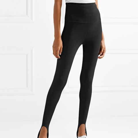Victor Stretch-Knit Stirrup Leggings