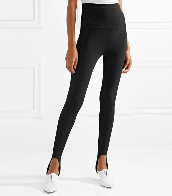 Khaite Victor Stretch-Knit Stirrup Leggings