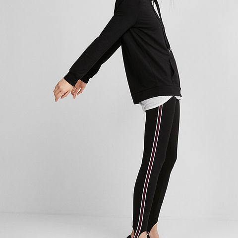 Striped Stirrup Pull-On Leggings