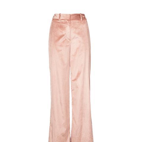 Silk Corduroy Trousers