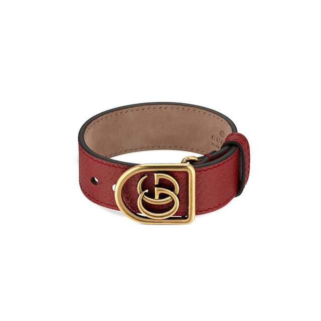 Gucci Bracelet in leather with Double G m9ko99O