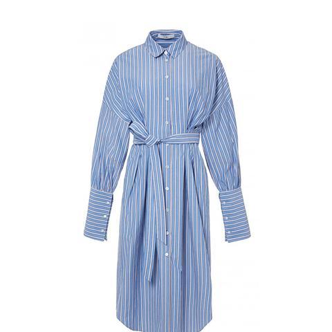 Garçon Striped Shirtdress With Wide Cuff