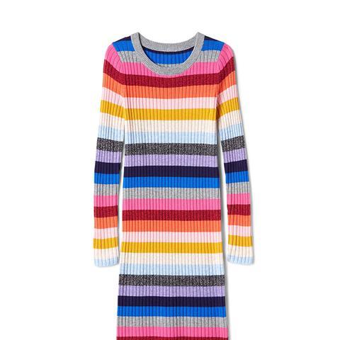 Crazy Stripe Wool Blend Dress