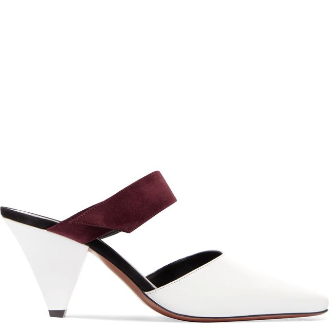 Seven Leather And Suede Mules