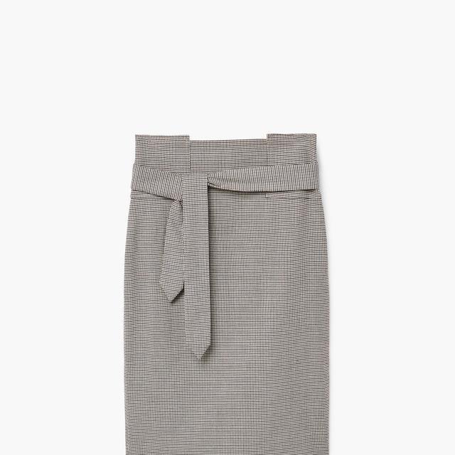 Micro houndstooth skirt