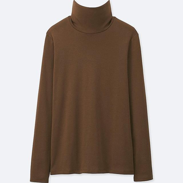 Women's Extra Fine Merino Turtleneck Sweater, Purple, L