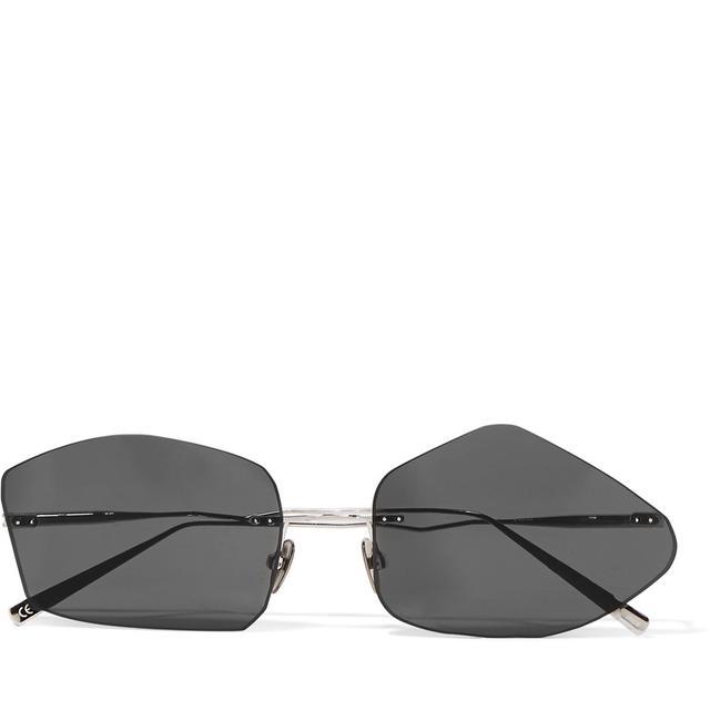 Giel Square-frame Silver-tone Sunglasses