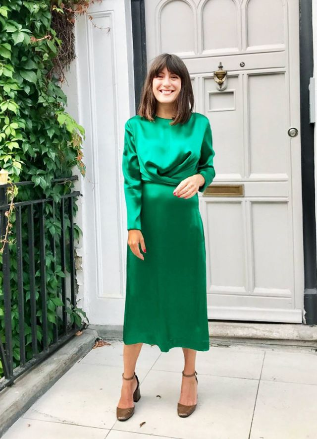 Christmas Day outfits: Green Kitri dress