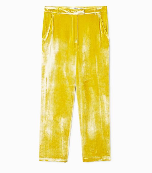 Ada Oguntodu Style: Mango Velvet Pleated Trousers