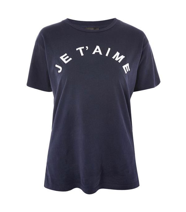 Ada Oguntodu Style: Topshop Je T'aime Slogan T-Shirt