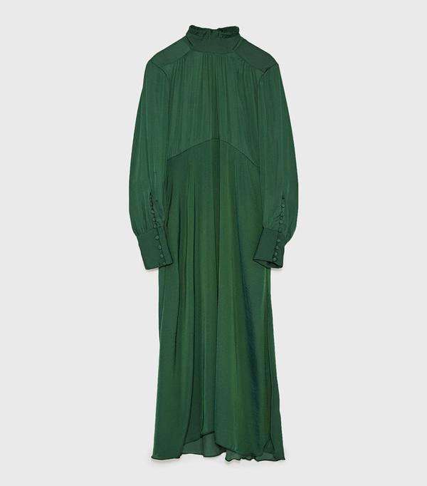 Ada Oguntodu Style: Zara Flowing Midi Dress