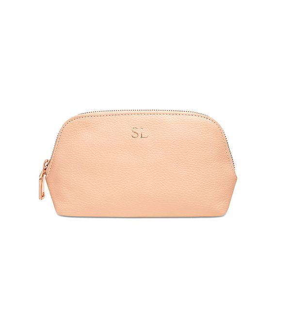 Personalised gifts for friends: Mon Purse Grainy Leather Cosmetic Case