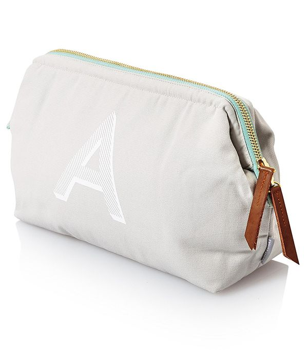 Personalised gifts for friends: Oliver Bonas Alphabet Wash Bag