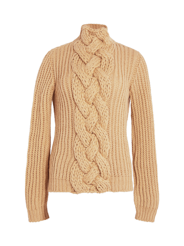 Hensely Front Cable Pullover Sweater
