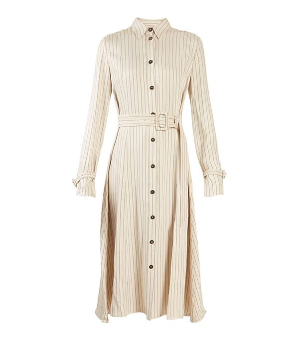 10 Things I'm Throwing Away Before December 31Altuzarra Fiona Waist Belt Pintstriped Shirtdress