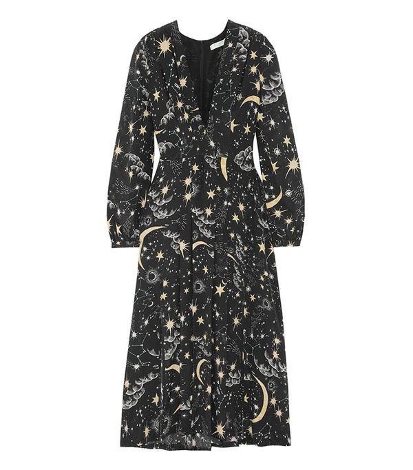 10 Things I'm Throwing Away Before December 31, Camellia Pleated Printed Silk Crepe De Chine Midi Dress