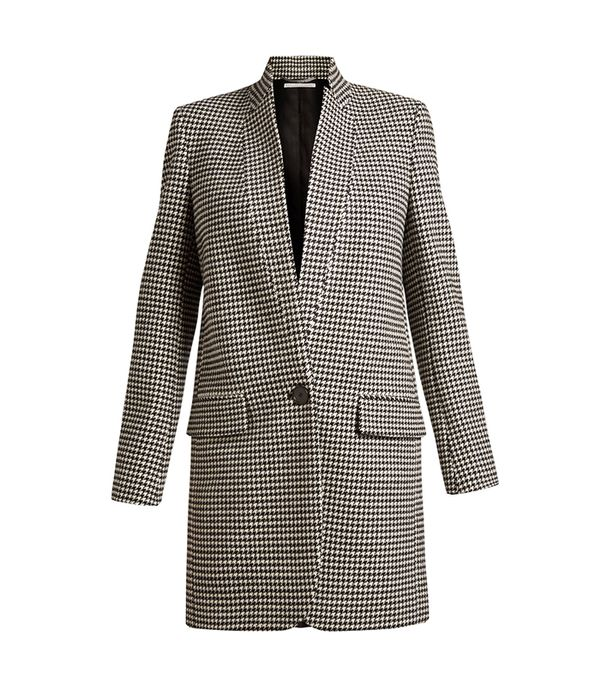 Stella McCartney Bryce single-breasted hound's-tooth coat