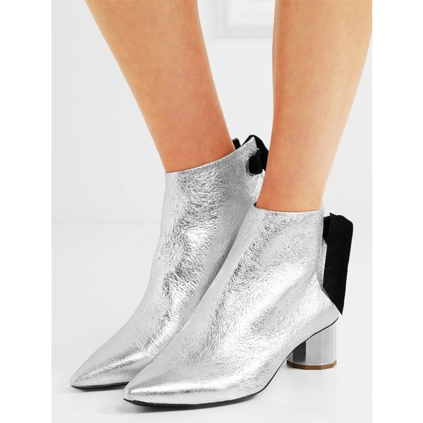 10 Things I'm Throwing Away Before December 31, Mirror Metallic Leather Ankle Boots