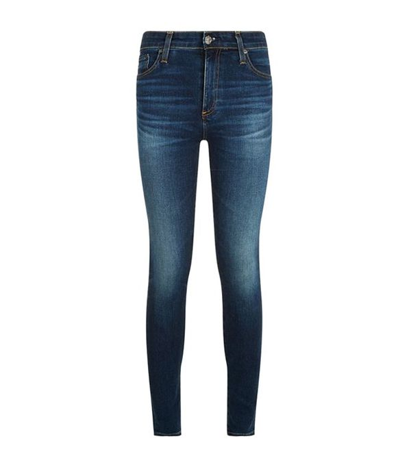 Best High-Waisted Skinny Jeans: AG Jeans Farrah Cropped Skinny Jeans