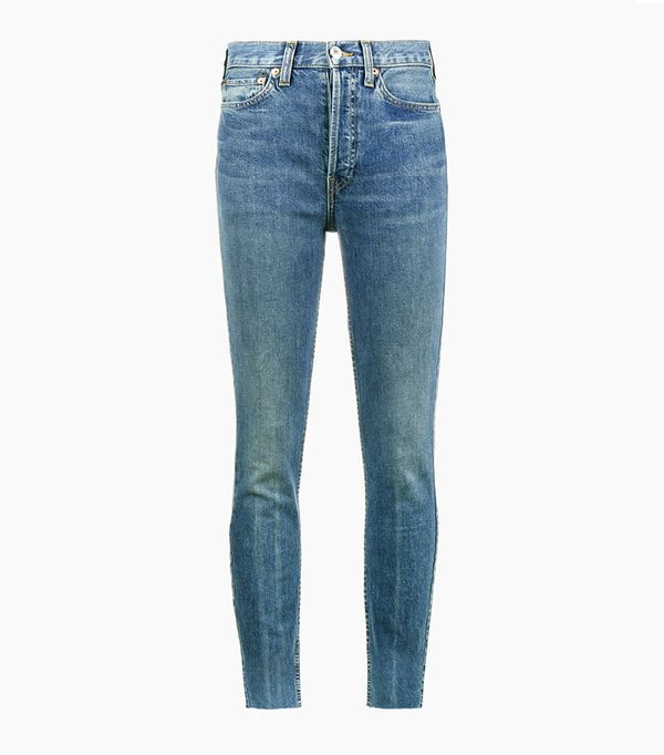 Best High-Waisted Skinny Jeans: Re/Done Originals High-Rise Ankle Cropped Jeans