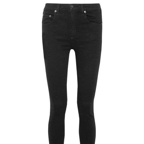 The Capri Cropped Distressed High-Rise Skinny Jeans