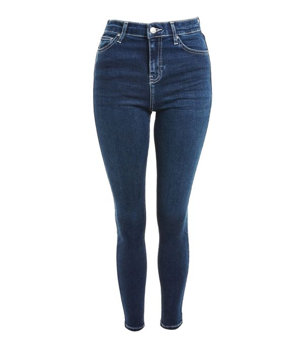 Best High-Waisted Skinny Jeans: Topshop MOTO Contrast Stitch Jamie Jeans