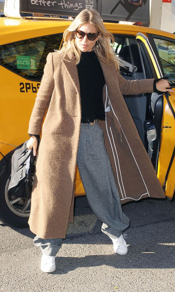 Sienna Miller comfy outfit: