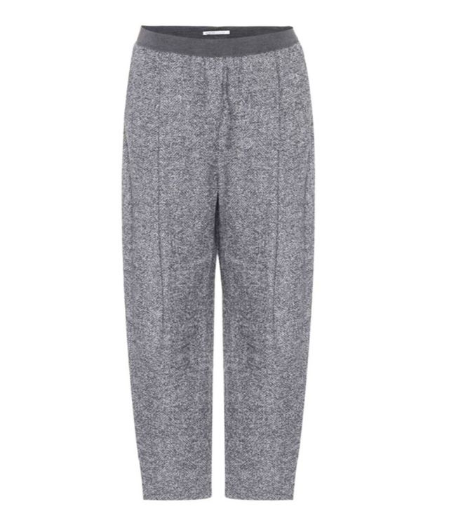 Agnona Cropped Alpaca-Blend Trousers