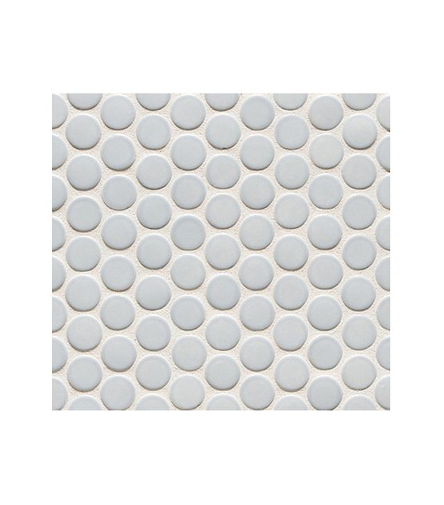 Walker Zanger 6th Avenue Round Mosaic Pale Sky Gloss Tile
