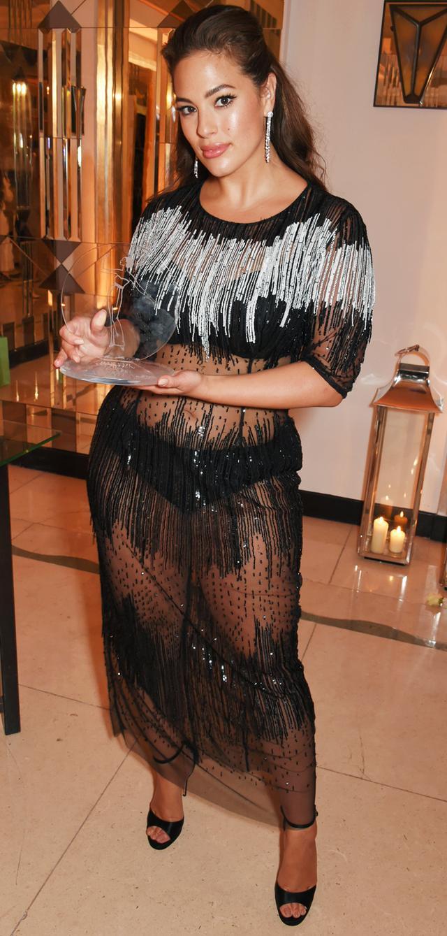 Ashley Graham naked dress trend:
