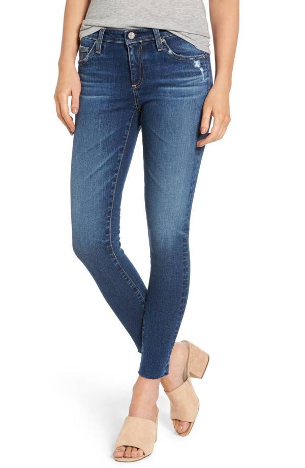 Women's Ag The Legging Raw Hem Ankle Skinny Jeans