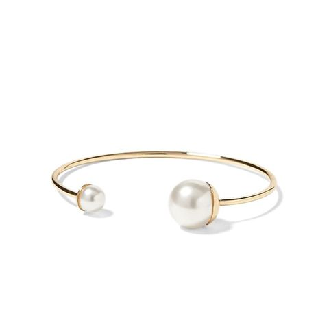 Modern Pearl Bauble Cuff