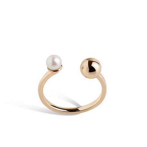 Asymmetric Pearl Ring