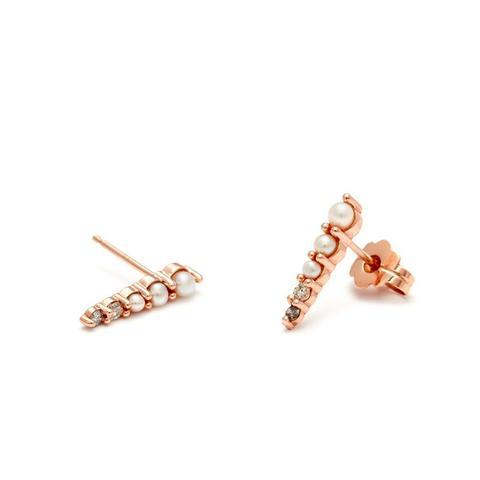 Pavé Pointe Stud Earrings