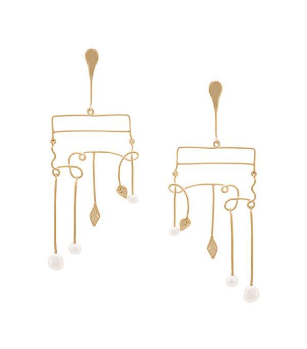 modern pearl earrings