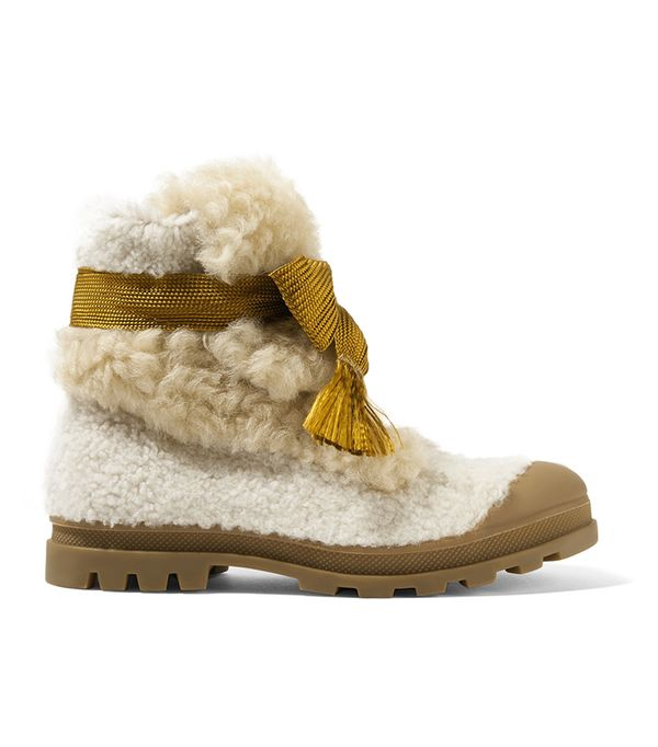 Parker Shearling Ankle Boots